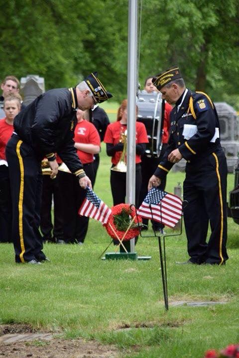 Post 210 with our comrades at the Lakeville American Legion Post 44 and the Post 210 Auxiliary conducted 12 cemetery honors ceremonies on Memorial Day 2017 along with the help of the Lakeville North HS Band and Boy Scouts troop 260