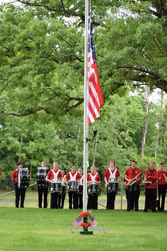 Lakeville North HS Band Members performing at Memorial Day ceremonies with the VFW and American Legion.