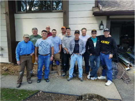 pictured:Mike Mikesell, Bill Gilbert, Roger Gilb, Bryce Kilene, Eric Smoot, Charlie Payne, Rick Mccormick, John Folger, Paul Scheunemann, Len Mathe, Terry Branham, missing today David Volkert, Dave Perron, Steve VanGordon, and Dave Engel. Also grateful for complimentary plumbing by Jeff Smith of Lakeville plumbing